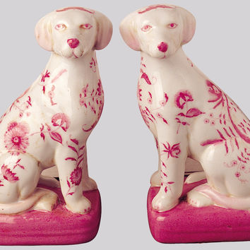 Pink Dogs Figurines (set of 2)