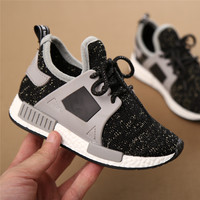 2016 Autumn New Kids Shoes Sneakers Baby Boys Girls Breathable Sports Shoes Lace up Casual Students Running Shoes Korean Fashion