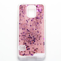 Pink Glitter Waterfall Samsung S5 Case Galaxy S6 Edge S6  Case - Free Shipping