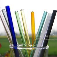 Top Quality Handmade Healthy Glass Straw  ECO-friendly  Household Glass Straight  Pipet  Tubularis Snore Piece  Tube