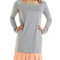 Chiffon & French Terry Sweatshirt Dress