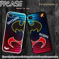 Batman and Robin twin : Case For Iphone 4/4s ,5 / Samsung S2,3,4