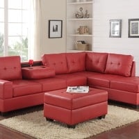 Reversible Sectional and Storage Ottoman Set