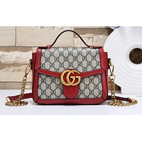 GUCCI hot seller of fashionable ladies' printed patchwork single-shoulder shopping bag #5