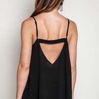 Cut Out Cami Top-Black only