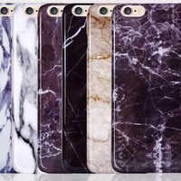Marble Stone GrainiPhone 7 7Plus & iPhone X 8 6s 6 Plus Cases Cover + Gift Box-517