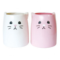 White and Pink Rabbit Pair Mugs