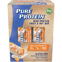 Pure Protein Tropical Fruit Macadamia Nut High Protein Fruit & Nut Bars, 1.86 oz, 6 count