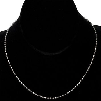 16 Stainless Steel Ball Chain Necklace