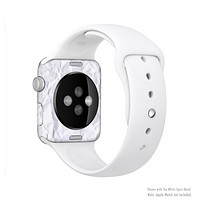 The Crumpled White Paper Full-Body Skin Set for the Apple Watch