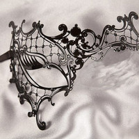 Women Black Lace Masquerade Mask Theater Mask Phantom Mask Venetian Mask Halloween Party Mask Couples Mask Metallic