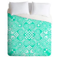 Budi Kwan Decographic Mint Duvet Cover