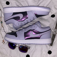 Air Jordan 1 Low low-top bright purple women's casual sneakers shoes