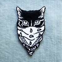 Gangster Cat Iron on Patch