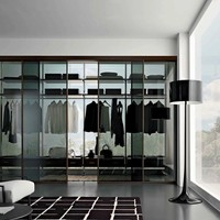 Sectional walk-in wardrobe MIRIA by GAROFOLI