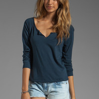 Lanston Split Pullover in Marine from REVOLVEclothing.com