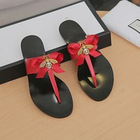shosouvenir Gucci Little Bee Fashion Casual Sandals