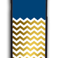 Chevron Gold for Iphone 6 Hard Cover Plastic