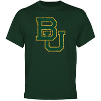 Baylor Bears Distressed Primary T-Shirt - Green