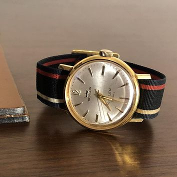 Vintage Westclox Automatic Watch With Stripe Band