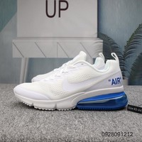 DCCK N661 Nike Air Max 270 Knit Breathable Comfortable Running Shoes White Blue
