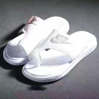 """""""NIKE"""" Fashion Casual Sandals Shoes Women And Men Stripe Slippers  G-A-GHSY-1"""