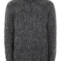 Charcoal Gray Mohair Turtle Neck Sweater - New Arrivals - New In
