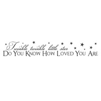 """wall quotes wall decals - """"Little Star"""""""