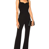 L'AGENCE Shay Jumpsuit in Black   FWRD