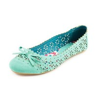 Bow-Front Cutout Ballet Flat: Charlotte Russe