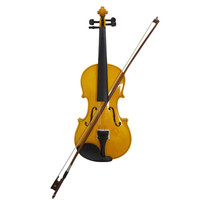 Student Acoustic Violin Full 4/4 Maple Spruce with Case Bow Rosin Gold Color