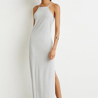 Ribbed Knit Halter Dress