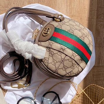 Gucci New Women's Stitched Double G Ball Football Bag
