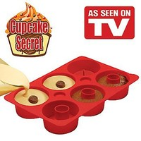 Cupcake Secret - As Seen On TV - Unique Non-stick Silicone Pan for Baking