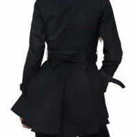 Black Coat - Black Pleated Eye of the | UsTrendy