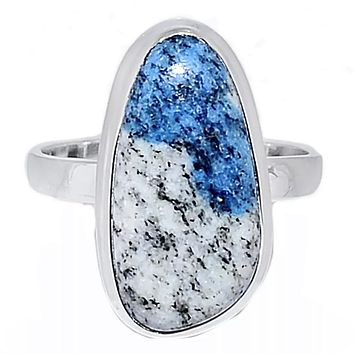 K2 Azurite Sterling Silver Ring