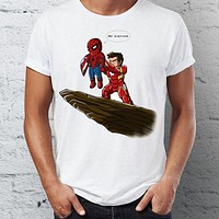 Men's T Shirt Spiderman Homecoming Ironman Stark Pride Rock Marvel Superhero Funny Tee