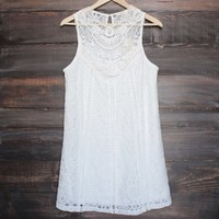final sale - ivory boho crochet lace dress