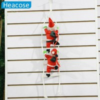2017 cute 25cm Christmas Santa Claus doll christmas tree decorations with stairnatal new year Christmas decoration for home