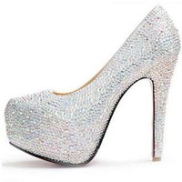 Rhinestone Paillette High-heeled Shoes