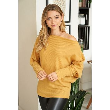 Simply The Best Mustard Off The Shoulder Top