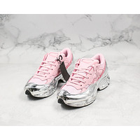 Morechoice Tuiw Raf Simons Adidas Ozweego 2 Women Sneaker Casual Running Shoes Pink Sliver