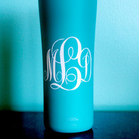 Travel Mug / Cup / Tervis / Tumbler Monogram Decal PERSONALIZED
