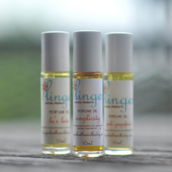 Lavender Patchouli Perfume Roll On - Aged Essential Oil Simplicity