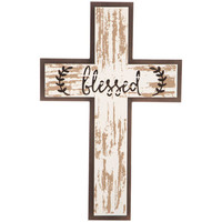 Blessed Distressed Cross Wood Wall Decor | Hobby Lobby | 1470657