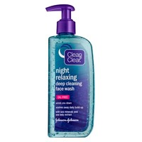 Clean & Clear Night Relaxing Deep Cleaning Face Wash, Oil Free | Walgreens