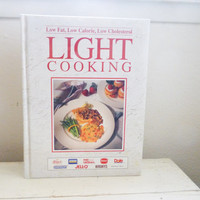 Light cooking cookbook, low calorie, healthy eating, low calorie cooking, wedding present, housewarming gift, recipe book, kitchen, dining