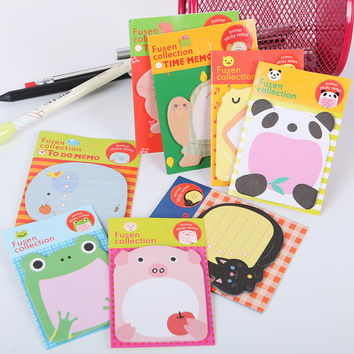 1pcs Office Stationery Sticker Cute Forest Animal Sticker Post It Marker Memo Pad Flags Sticky Note 8 color Available