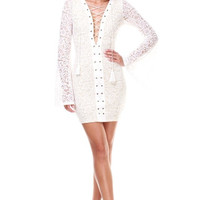 PARTY PIPER Bell Sleeves Dress