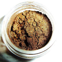 Sultan's Chocolate Eyeshadow - Bronze Brown Natural Mineral  Mica, Pigment. Gorgeous Summer Shade, Handmade Cruelty Free, Earth Friendly